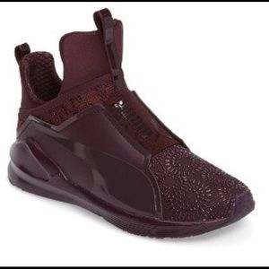 Puma Fierce Krm High-Top Burgundy Sneaker